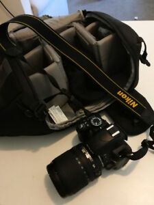 Nikon D3100 +Nikon AF-S DX NIKKOR 18-105mm VR Lens + Accessories