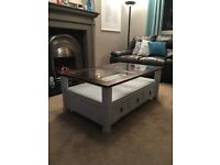Upcycled, shabby chic, wooden coffee table