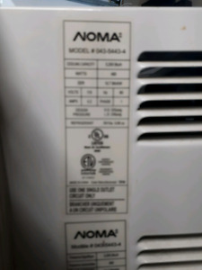 Air conditioner Noma 5500 btù  used little