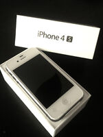 In new condition unlocked WHITE IPHONE 4S 8GB