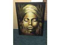 African canvas picture