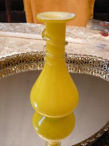 """Mignon vase en verre souflé jaune style Murano 6,5""""x3"""" fait main West Island Greater Montréal image 1"""