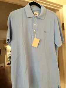 LACOSTE - Brand new vintage washed collared t-shirt