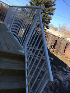Affordable PRICE supply and install WELDED aluminum railing epox