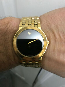 Movado Museum Gold-Plated Stainless Steel Swiss Made Men's Watch