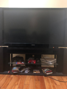 52 inch Toshiba Widescreen DLP TV  and combined TV stand