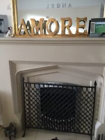Large carved AMORE ornament