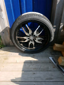 "FS/TRADE: 20"" VELOCITY WHEELS WITH BRAND NEW TIRES"