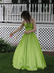 Unique lime green prom dress - worn once