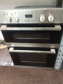 Stainless steel indesit 60cm integrated electric grill & double fan oven good condition with guarant