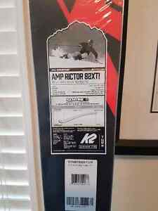 Brand New 177cm K2 AMP Rictor 82XTi downhill skis / markers pkg