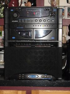 system de karaoké ,lecteur cd et cassette  et radio
