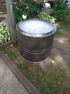Old Steel Dryer Drum / Fire Pit/ Camping