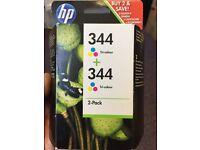 HP 344 tricolour inkjet cartridges (2 pack)