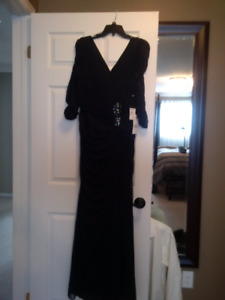 Lord and Taylor - formal long navy dress-brand new