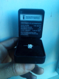 SOLD.  Solitaire Diamond engagement ring. 1carat 14k white gold