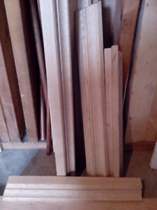 Solid oak crown molding for cabinet