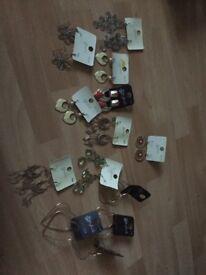 13 pairs of earrings