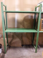 USED HEAVY-DUTY SHELVING. EASY ASSEMBLY. LOWEST PRICE & IN STOCK