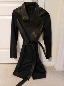 Mackage leather trenchcoat XS