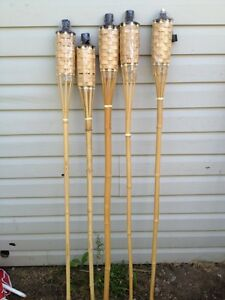 Bamboo Tiki Torches