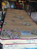 Twin mattress, boxspring and frame