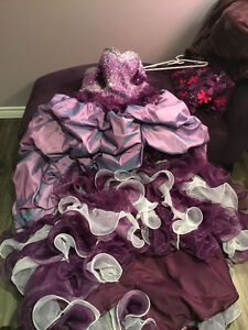 Wedding Dress-Purple princess, Custom made, Unworn