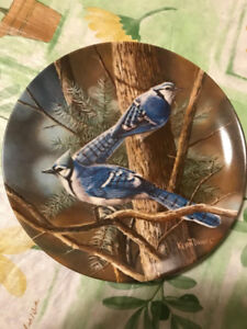 """Kevin Daniel Collectible Plate """"The Blue Jay"""" -Bradford Exchange"""