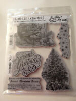 BNIP Tim Holtz Stampers Anonymous Christmas Magic CMS247