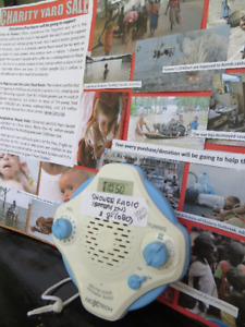 Shower Radio for Charity Sale