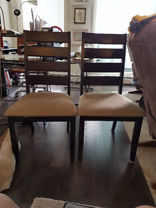 Solid Wood Table and Two Chairs