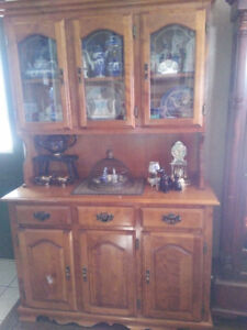 Solid wood, custom  Made in Canada China Cabinet.