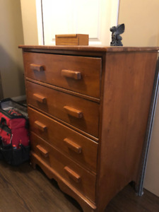Canadiana Maple Highboy Chest drawers. Made in Montreal Canada