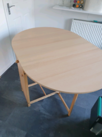 Drop leaf kitchen dining table with 4 chairs