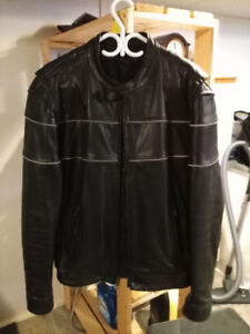 Leather Motorcycle Jacket with Zip out liner.