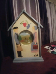 Hand painted clock