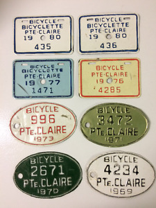 QUEBEC  BICYCLE  LICENCE PLATES
