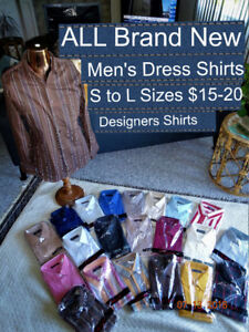 All Brand NEW Men's Dress Shirts