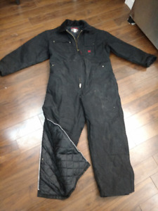 Tough Duck Insulated winter Coverall with nylon quilted lining
