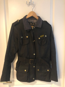 Barbour Waxed Jacket - Womens - Size US 6/ UK 10 - Black