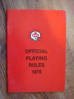 1978 CFL Official Playing Guide