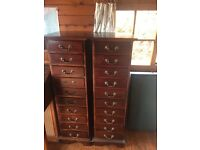 Antique wooden tall boys drawers