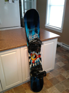 Youths snow board