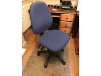 Blue Office Chair with lots of adjustments