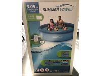 "3m / 10ft x 76cm / 30"" Swimming Pool with Pump & Accessories."
