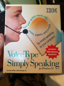 Never been used IBM voicetype 3.0