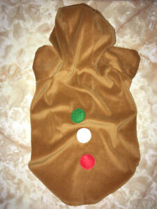 GINGERBREAD COOKIE LARGE PET DOG COSTUME