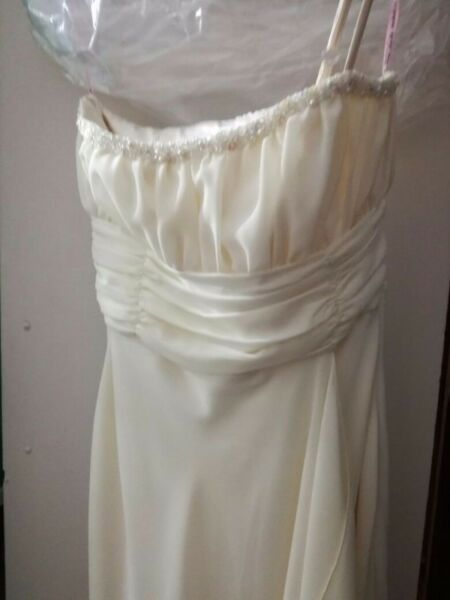 Cream chiffon dress