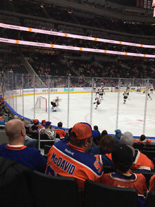Oilers V Wild Tonight Lower Bowl Section 107 Row 9 Single Ticket