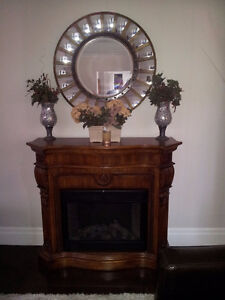 Twin Star Electric Fireplace Cherry Mantel Model 28E05
